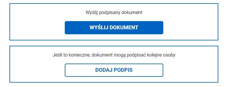 """Grafika: jak podpisać wniosek - krok 6: Naciskając przycisk """"Wyślij dokument"""" możesz go wysłać do właściwego urzedu"""