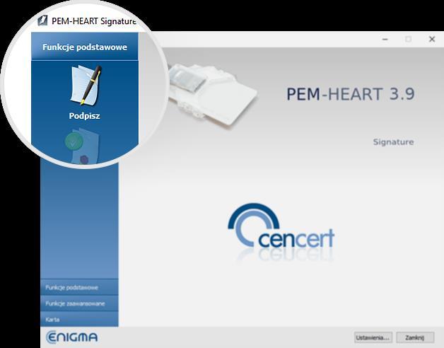 Podpis kwalifikowany - jak ustawić podpis składany na biznes.gov.pl - PEM-HEART 3.9 - krok 1